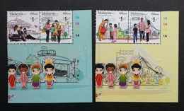 Malaysia National Unity2013 Blind Train Locomotive Helping Relationship KLCC University Computer (stamp Plate) MNH - Malaysia (1964-...)