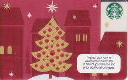 Malaysia Starbucks Card Merry Christmass 2012-6079 - Gift Cards