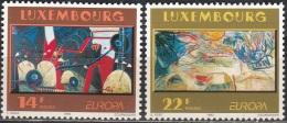 Luxembourg 1993 Michel 1318 - 1319 Neuf ** Cote (2015) 3.50 Euro Europa CEPT Art Contemporain - Unused Stamps