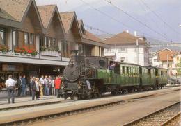 Historischer Dampfzug In Sarnen  Train - Stations - Met Treinen