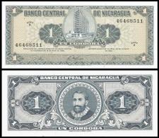 NICARAGUA 1 CORDOBA D.1968 P 115 UNC - Nicaragua