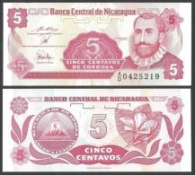 NICARAGUA 5 CENTAVOS ND 1991 P 168 UNC - Nicaragua