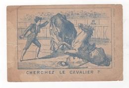 IMAGE DEVINETTE FABRIQUE DE GANTS CHAUSSEE D'ANTIN PARIS - CHERCHEZ LE CAVALIER - CORRIDA - Otros