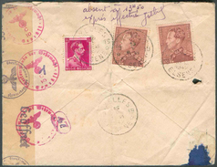 IXELLES 19 N°528-531(2x Le 3Fr.25 POORTMAN) Obl. Sc AgenceIXELLES 19 * Au Verso D'une Lettre Recommandée Et Exprès (Etiq - Postmark Collection