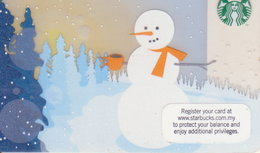 "Malaysia Starbucks Card ""Schneemann"" 2012 - 6079 - Gift Cards"