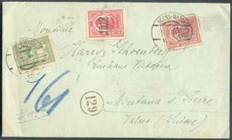 N°237-259-261 Obl. Dc DORNA-WATRA Sur Lettre Du 25-VII-1919 Vers Montana-St-Pierre (CH) - Verso : Bande De Censure Et Gr - Marcofilie
