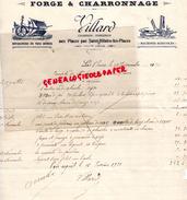 87 - AUX PLACES PAR SAINT HILAIRE LES PLACES- FACTURE VILLARD- FORGE CHARRONNAGE- JEAN SAZERAT- 1930 - Petits Métiers
