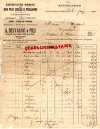 87 - SAINT HILAIRE LES PLACES- FACTURE A. DESVALOIS FILS- BOIS POUR CERCLES FEUILLARDS- 1930 - Cars
