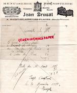 87 - SAINT HILAIRE LES PLACES- FACTURE JEAN BRUZAT- MENUISERIE EBENISTERIE- 1930  M. SAZERAT - Automobile