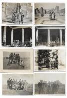 8 FOTO POMPEI E NAPOLI  ANNI 1930/34 - SU CARTA VELOX -  DIMENSIONI CM.8,5X6 - Persone Anonimi