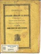 1884 INSALACU LIUNARDU DI NOFRIU DI SERRADIFALCO SURFARARU ABITANTI IN CALTANISSETTA - Libri Vecchi E Da Collezione