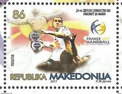 MK 2017-03 WORLD CHAMPIONSHIPIN HANDBALL, MACEDONIA MAKEDONIJA, 1 X 1v, MNH - Macédoine