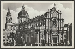 Il Duomo, Catania, Sicilia, Italia, 1920 - Alterocca Terni RP Postcard Cartolina - Catania