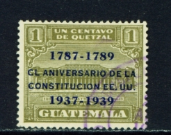 GUATEMALA  -  1938  Constitution  1c  Used As Scan - Guatemala