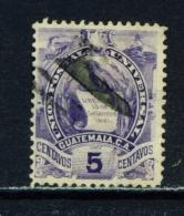 GUATEMALA  -  1886  Arms  5c  Used As Scan - Guatemala