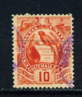 GUATEMALA  -  1886  Arms  10c  Used As Scan - Guatemala