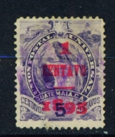 GUATEMALA  -  1895  Arms  Surcharge  1c On 5c  Used As Scan - Guatemala
