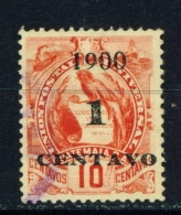 GUATEMALA  -  1900  Arms  Surcharge  1c On 10c  Used As Scan - Guatemala