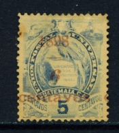 GUATEMALA  -  1898  Surcharge  6c On 5c  Used As Scan - Guatemala
