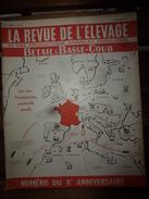 1955 LRDLE :La Revue De L'Elevage  N° SPECIAL  ----->Chevaux;Aviculture;Porcins;Moutons;Viande Et Lait;etc - Animals