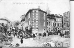 CASTELNAU - MAGNOAC - Place De La Poste ( Trés Animé ) - Castelnau Magnoac