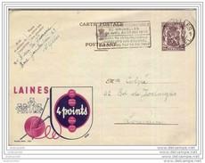 LAINES 4 POINTS - Oblitération De 1950 - PUBLIBEL 825 - Entiers Postaux