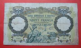 ALBANIA - ITALIA. 20 FRANGA ND 1939, Serial # T20 2363, - Albania