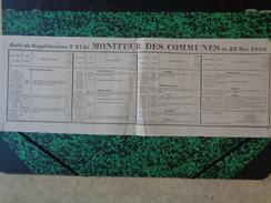 Suite Au Supplément Au N°21 Du Moniteur Des Communes Du 22 Mai 1856.Neuville Coppe-Gueule. - Documents Historiques