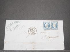 FRANCE - Paire ( 1 Exemplaire Touché ) Du N° 10 Sur Lettre De Lille Pour St Amand En 1854 Cote Maury 350€ - L 8154 - 1849-1876: Classic Period