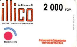 Togo Recharge Card 2000 FCFA Illico - Togo