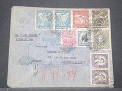 CHILI - Enveloppe En Recommandé De Santiago Pour La France En 1938 , Affranchissement Plaisant - L 8164 - Chile