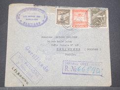 CHILI - Enveloppe En Recommandé De Santiago Pour La France En 1940 Via New York, Affranchissement Plaisant - L 8165 - Chile
