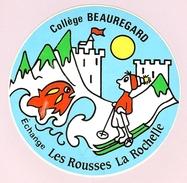 HB-A 070 Rare Autocollant Du Collège Beauregard à La Rochelle (17) - Autocollants