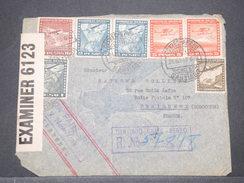 CHILI - Enveloppe En Recommandé Pour La France En 1940 Par Avion , Contrôle Postal , Affranchissement Plaisant - L 8170 - Chile