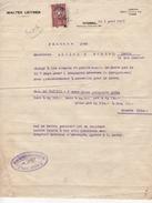 Turquie - Istambul - Timbre Fiscal Sur Facture - 1933 - 1921-... Republiek