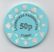Jeton De Casino : Ladbrokes Paddington London 50p - Casino