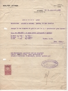 Turquie - Istambul - Timbre Fiscal Sur Facture - 1933 - Lettres & Documents