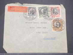CHILI - Enveloppe  De Santiago Pour La France En 1930 Par Avion ( étiquette ) , Affranchissement Plaisant - L 8173 - Chile