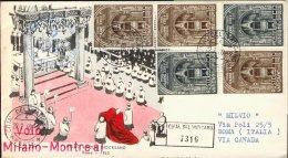 1960--Vaticano Aerogramma Raccomandato I°volo Postale Alitalia Milano Montreal Del 3 Marzo, Non Catalogato Dal Pellegrin - Aéreo