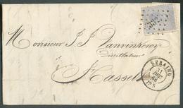 N°18 Obl. .LP 332  Sur Lettre De SERAING  31 Déc. 1868 Vers Hasselt - 11932 - 1865-1866 Profile Left