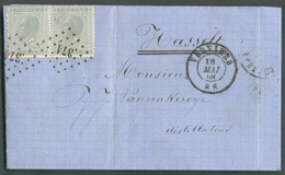N°17(2) Obl. .LP 374  Sur Lettre De VERVIERS 18 Mai 1868 Vers Hasselt Distillateur - 11935 - 1865-1866 Profile Left