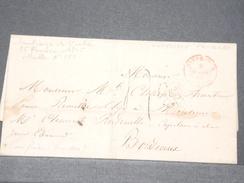 """FRANCE - Cachet """" Outremer Pauillac """" En Rouge En 1845 Sur Lettre De Santiago De Cuba Pour Bordeaux - L 8182 - Marcophilie (Lettres)"""