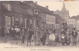 62  FRUGES  - Fontaine Chanquille  Chariot à Eau -   CPA N/B  9x14 BE Dos Non Divisé - Fruges