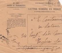 DEVANT DE LETTRE. 14 4 1925. LETTRE TOMBEE EN REBUT. ENGHIEN LES BAINS - Postmark Collection (Covers)