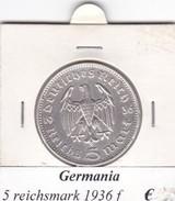 GERMANIA  5 REICHSMARK 1936  LETTERA F  COME DA FOTO - [ 4] 1933-1945: Drittes Reich