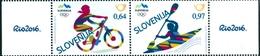 Slovenia 2016  - Olimpic Games In Rio - Mountain Bike, Rowing  -  2v -  Mint - Slovenia