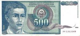 YUGOSLAVIA 500 DINARA 1990 P-106a VF S/N AH1313349 [YU106circ] - Yugoslavia