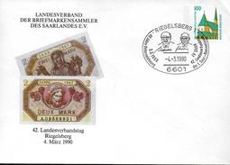 ALLEMAGNE   Lettre  PAP 1990 Riegelsberg Monnaie - Münzen