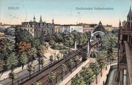 Berlin  / Color Gel.1911 Hochbahn Nollendorfplatz - Schöneberg