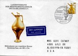 ALLEMAGNE  Lettre  PAP 1989 Gersheim Broc Celtique - Arts